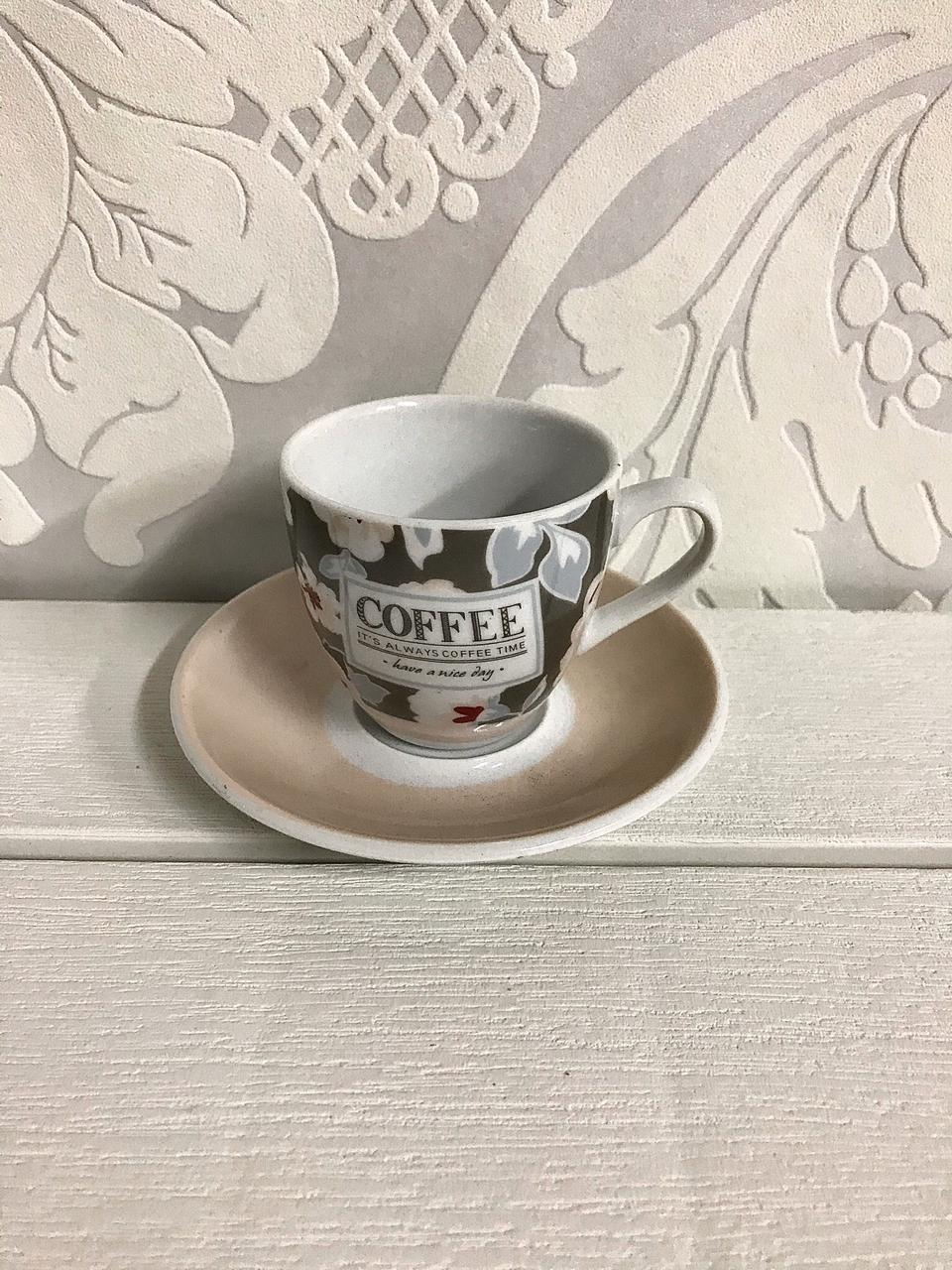Φλιτζάνια καφέ ελληνικού -Σετ 6τμχ 90cc